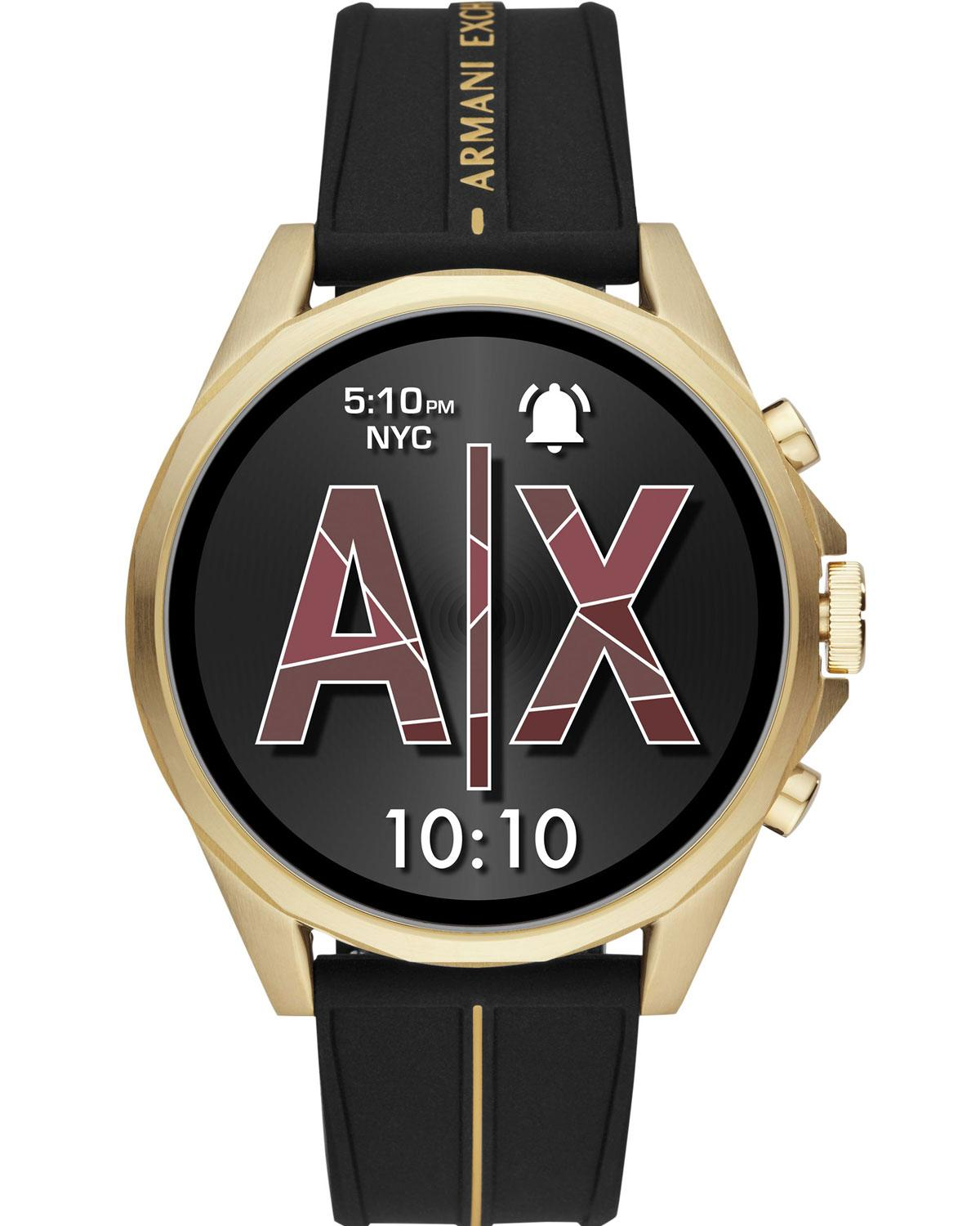 ARMANI EXCHANGE Connected Smartwatch - AXT2005, Gold case with Black Rubber Strap