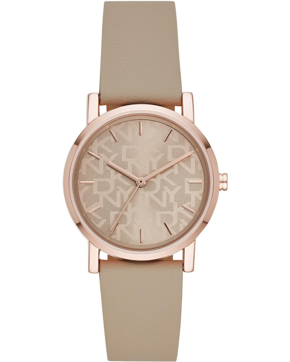 DKNY Soho - NY2856 Rose Gold case with Beige Rubber Strap