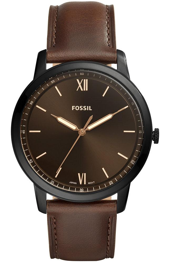 Fossil The Minimalist - FS5551 Black case with Brown Leather Strap