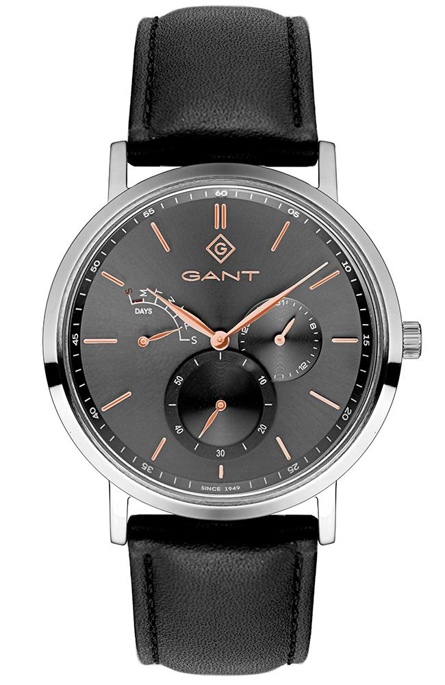 GANT Ashmont - G131001, Silver case with Black Leather Strap