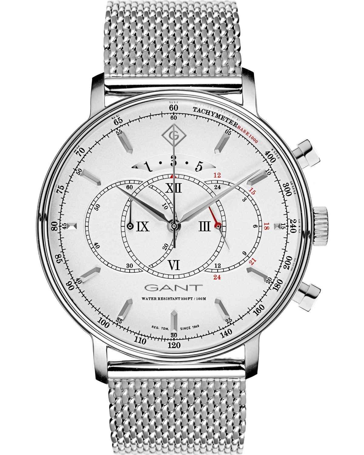 GANT Cameron II Chronograph Mens - G103001, Silver case with Stainless Steel Bracelet