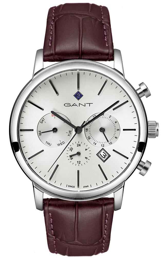 GANT Cleveland - G132007, Silver case with Brown Leather Strap