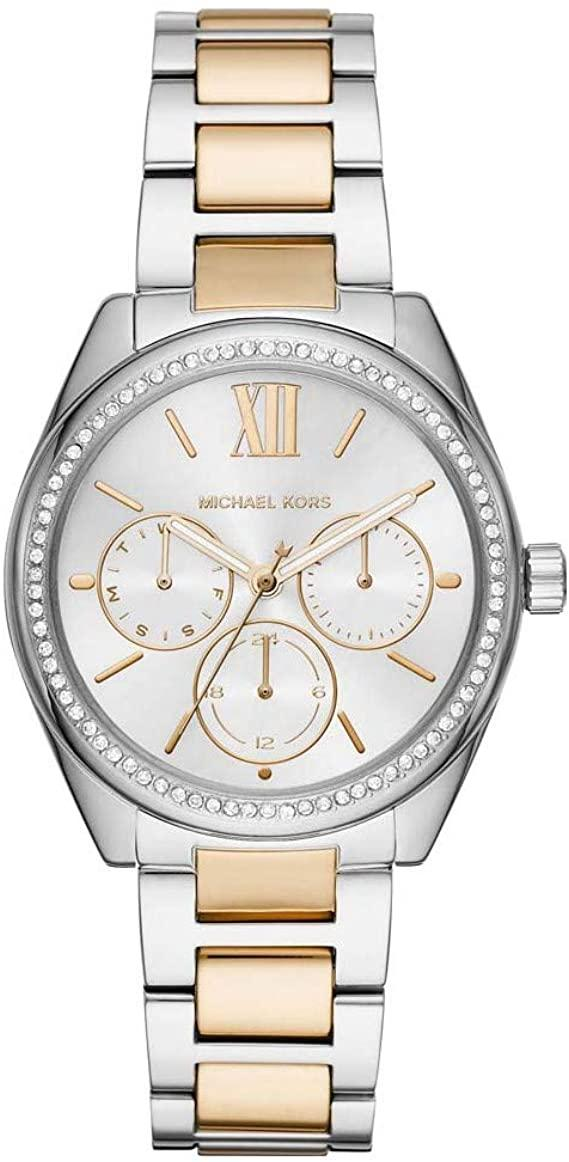 MICHAEL KORS Jan Crystals - MK7092, Silver case with Stainless Steel Bracelet