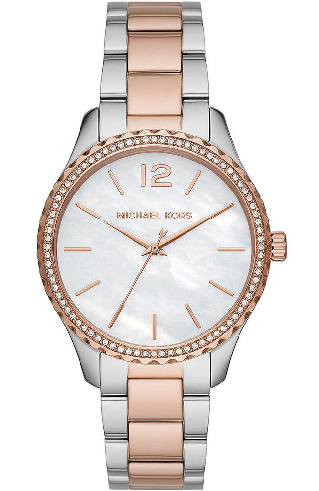 MICHAEL KORS Layton Crystals - MK6849, Silver case with Stainless Steel Bracelet