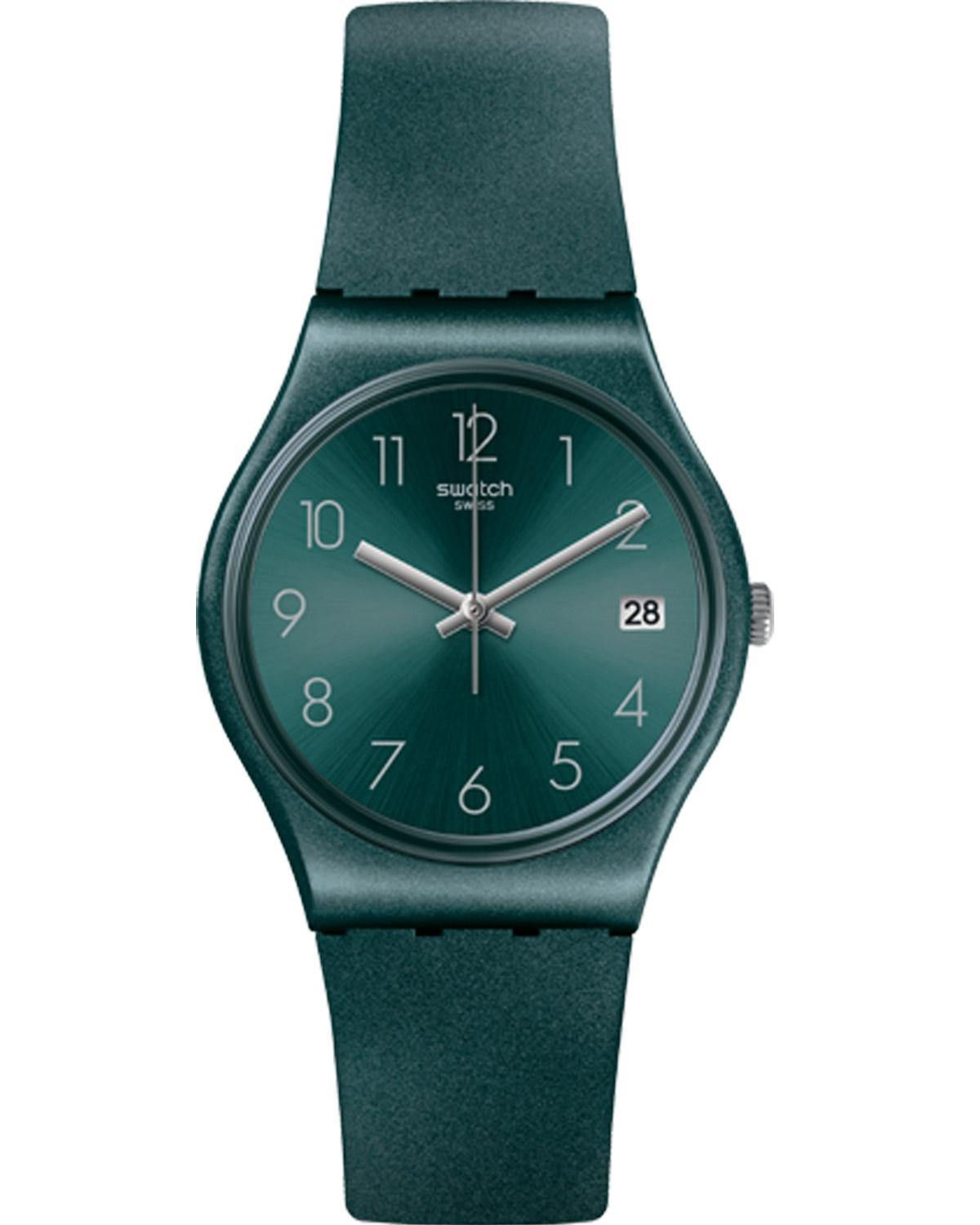 SWATCH Ashbaya - GG407 Green case with Green Rubber Strap