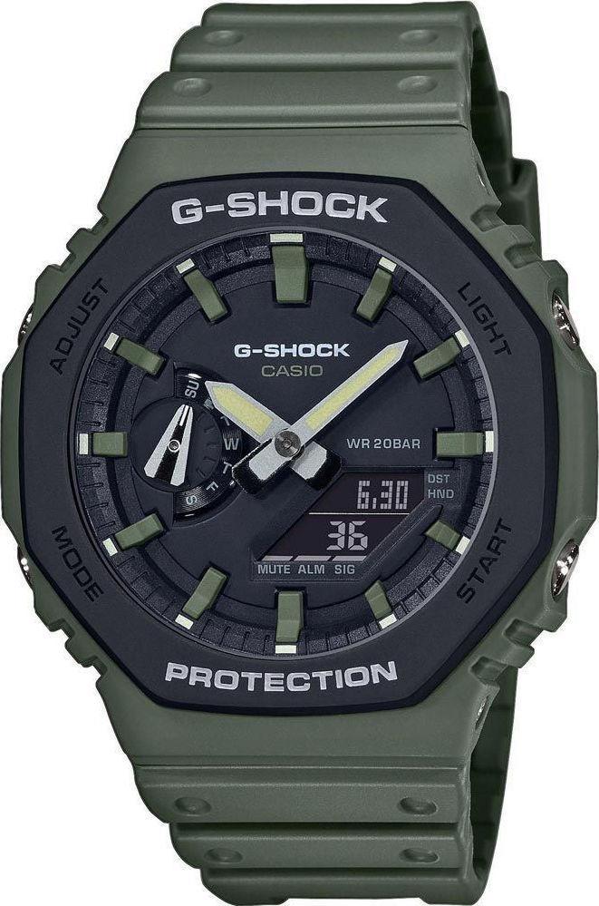 CASIO G-Shock Chronograph - GA-2110SU-3AER Khaki case with Khaki Rubber Strap