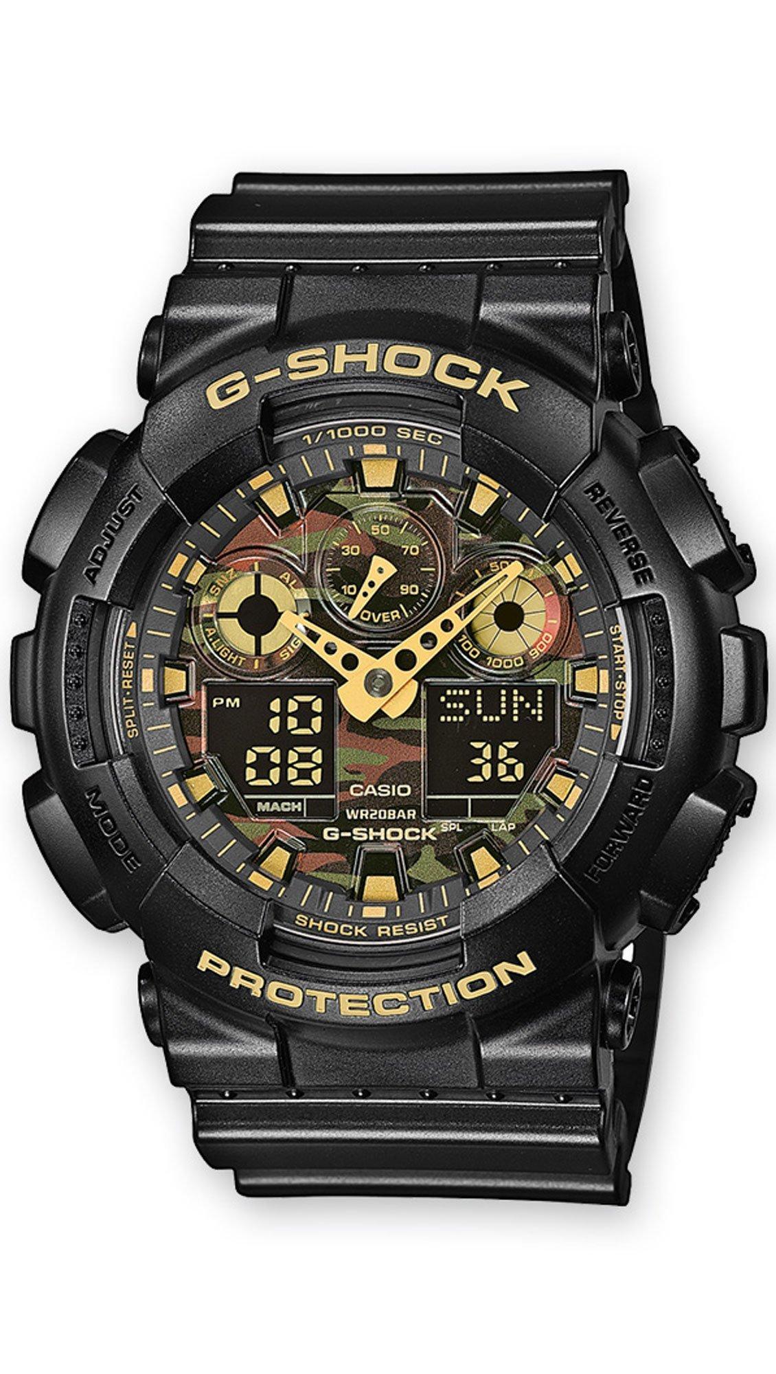 CASIO G-Shock - GA-100CF-1A9ER Black case, with Black Rubber Strap