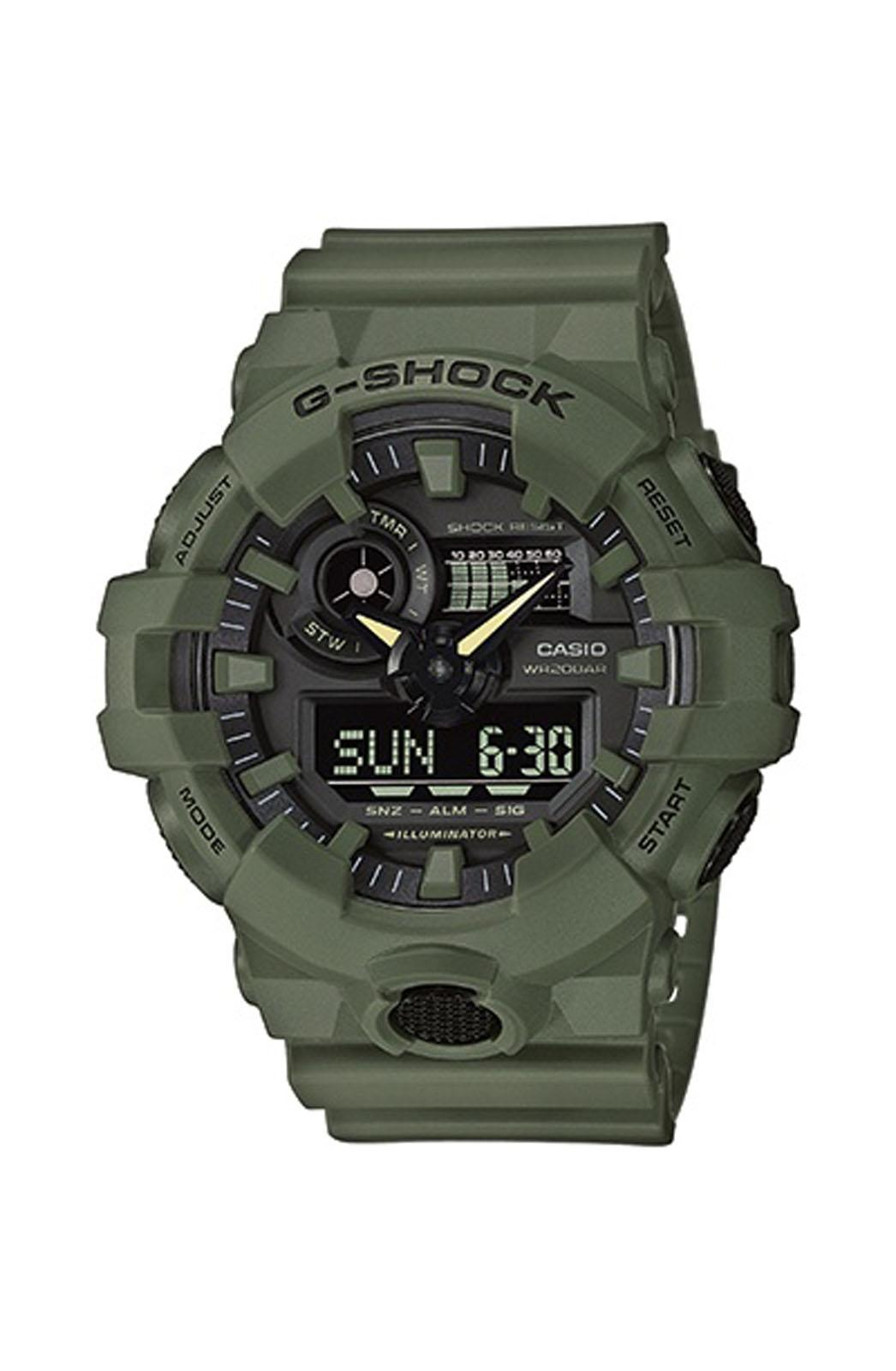 CASIO G-Shock - GA-700UC-3AER , Khaki case with Khaki Rubber Strap