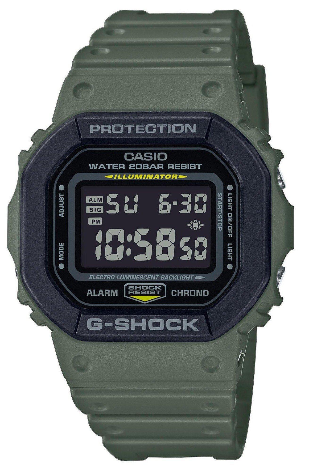 CASIO G-Shock Chronograph - DW-5610SU-3ER Khaki case with Khaki Rubber Strap