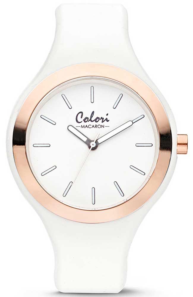 COLORI Macaron - COL430 White case with White Rubber Strap