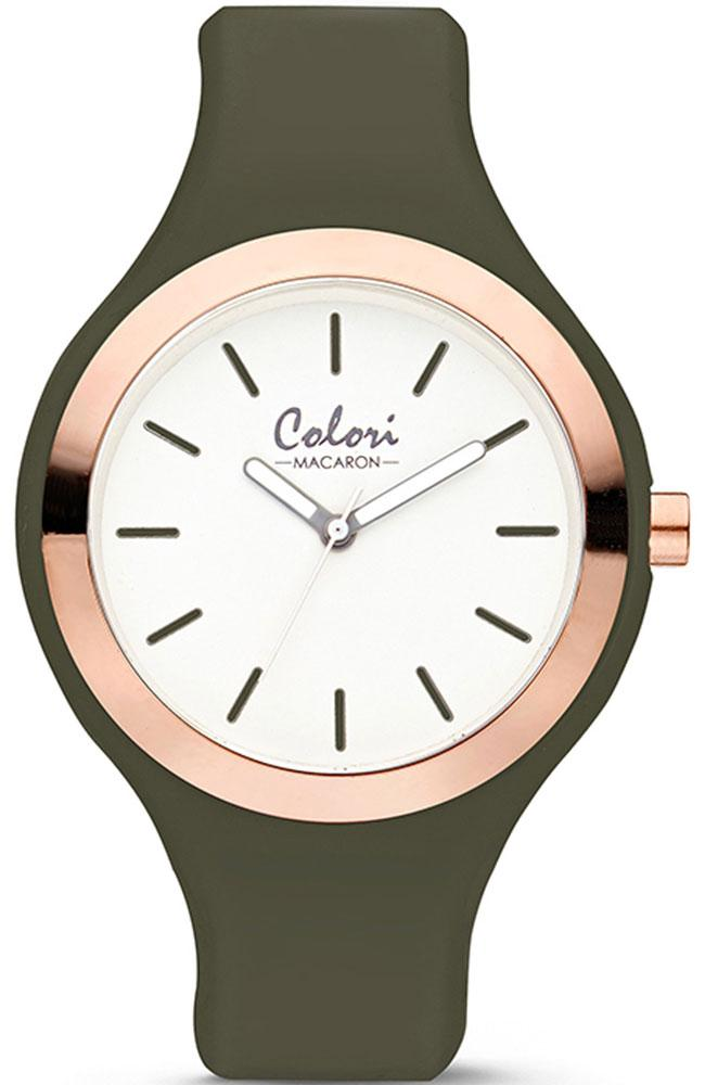 COLORI Macaron - COL504 Khaki case with Khaki Rubber Strap