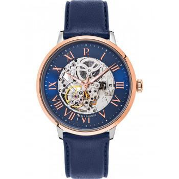 PIERRE LANNIER Gents Automatic - 323B166 Silver case with Blue Leather strap 6613a002491