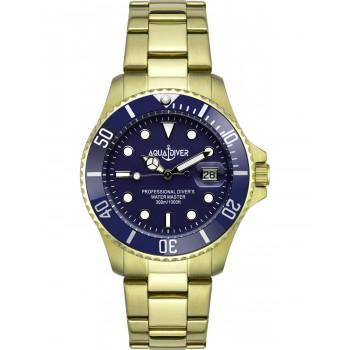 AQUADIVER Water Master - 14584584DB , Gold case with Stainless Steel Bracelet