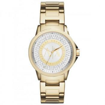 ARMANI EXCHANGE  Crystals Ladies- AX4321,  Gold case with Stainless Steel Bracelet