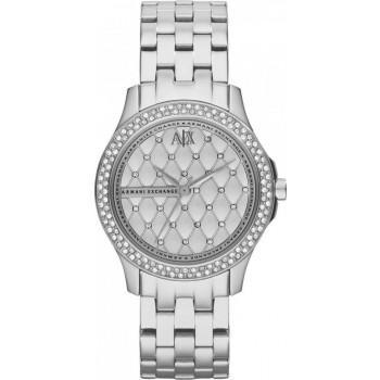 ARMANI EXCHANGE Crystals Lady Hamilton - AX5215, Silver case with Stainless Steel Bracelet