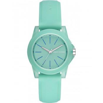 ARMANI EXCHANGE Ladies  - AX4362,  Green case with Green Rubber Strap