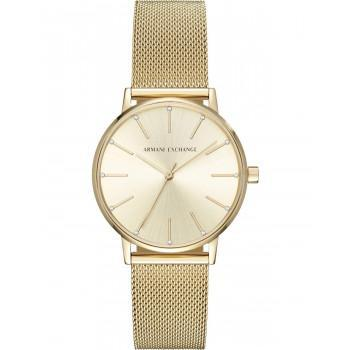 ARMANI EXCHANGE Lola Crystals - AX5536,  Gold case with Stainless Steel Bracelet
