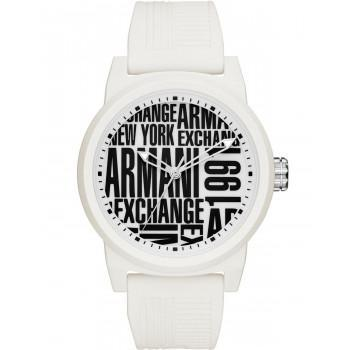 ARMANI EXCHANGE Mens - AX1442, White case with White Rubber Strap