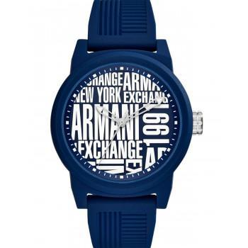 ARMANI EXCHANGE Mens   - AX1444, Blue case with Blue Rubber Strap