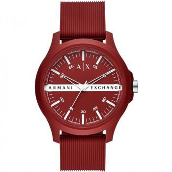 ARMANI EXCHANGE  Mens - AX2422, Red case with Red Rubber Strap