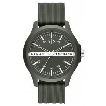 ARMANI EXCHANGE  Mens - AX2423, Green case with Green Rubber Strap