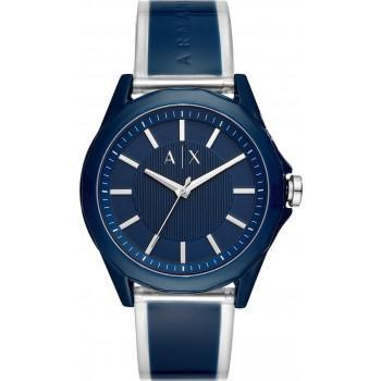 ARMANI EXCHANGE Mens - AX2631  Blue case with Blue & Silver Rubber Strap