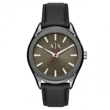 ARMANI EXCHANGE  Mens - AX2806,  Grey case with Black Leather Strap