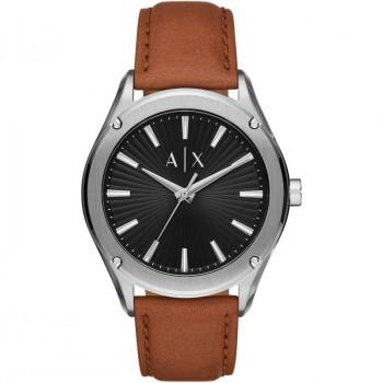 ARMANI EXCHANGE  Mens - AX2808  Silver case with Brown Leather Strap