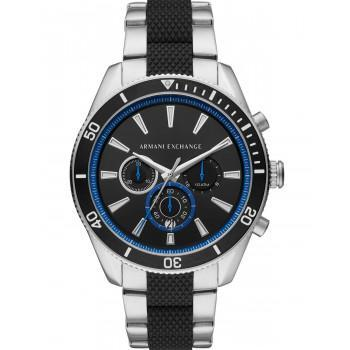 ARMANI EXCHANGE Enzo  Mens Chronograph - AX1831, Silver case with Stainless Steel Bracelet