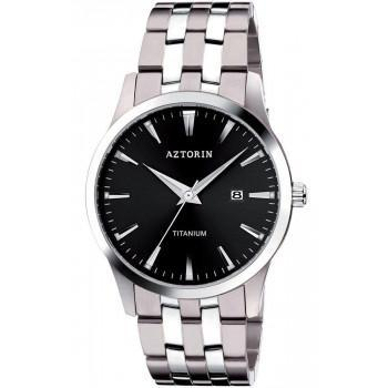 AZTORIN C Mens - A045.G188,  Silver case with Stainless Steel Bracelet