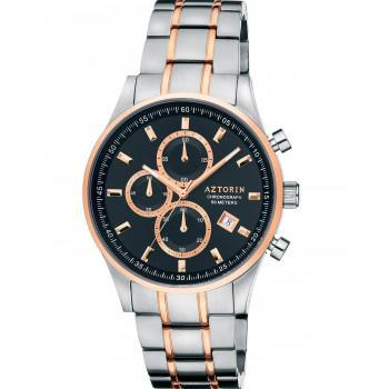 AZTORIN  Chronograph  Mens - A060.G292  Silver case with Stainless Steel Bracelet