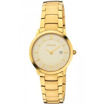 AZTORIN Classic Ladies - A054.L247,  Gold case with Stainless Steel Bracelet