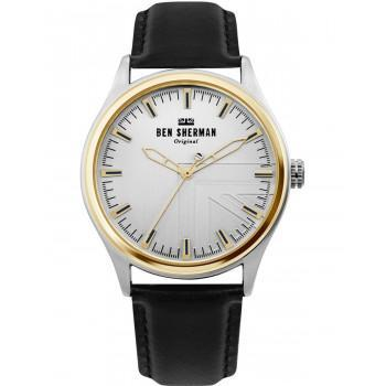 BEN SHERMAN  Harrison Original  - WB036B  Silver case with Black Leather Strap
