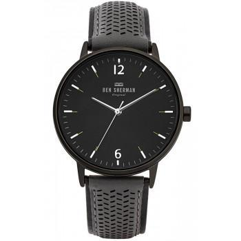 BEN SHERMAN  Portobello Social  - WB038E  Black case with Blue Leather Strap