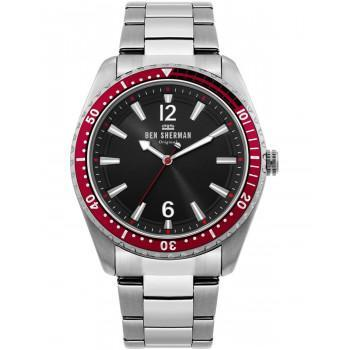 BEN SHERMAN Ronnie Diver - WB037ESM,  Silver case with Stainless Steel Bracelet