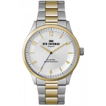 BEN SHERMAN Spitafields Vinyl City- WB025SGM  Silver case with Stainless Steel Bracelet