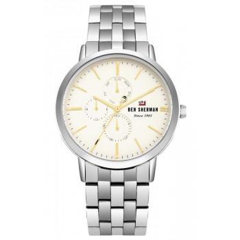 BEN SHERMAN The Dylan Multifunction - WBS104SM,  Silver case with Stainless Steel Bracelet