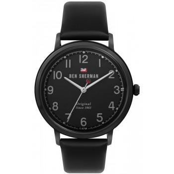 BEN SHERMAN  The Dylan - WBS113BB  Black case with Black Leather Strap