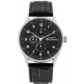 BEN SHERMAN The Originals - BS021B  Silver case with Black Leather Strap