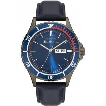 BEN SHERMAN The Originals - BS045U  Grey case with Blue Leather Strap