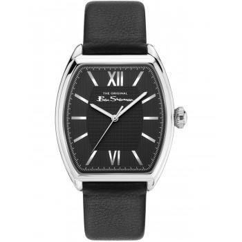 BEN SHERMAN  The Originals  - BS047B  Silver case with Black Leather Strap