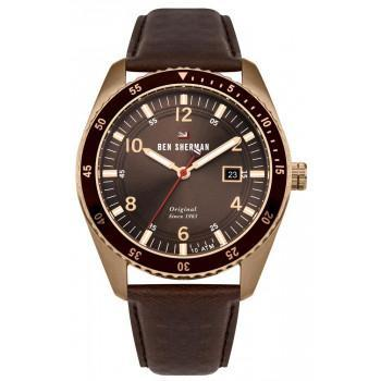 BEN SHERMAN The Ronnie Sports - WBS107TRG,  Rose Gold case with Brown Leather Strap