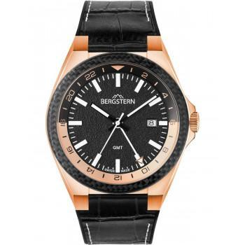BERGSTERN Active - B060G279  Rose Gold case with Black Leather