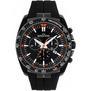 BERGSTERN Active Chronograph - B025G122  Black case with Black Rubber Strap