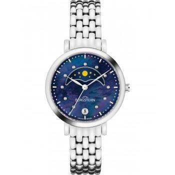 BERGSTERN Brilliance Crystals - B041L198,  Silver case with Stainless Steel Bracelet