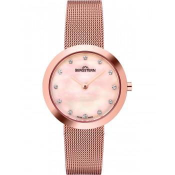 BERGSTERN Brilliance Crystals - B044L209,  Rose Gold case with Stainless Steel Bracelet