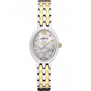 BERGSTERN Brilliance Crystals - B052L245,  Silver case with Stainless Steel Bracelet
