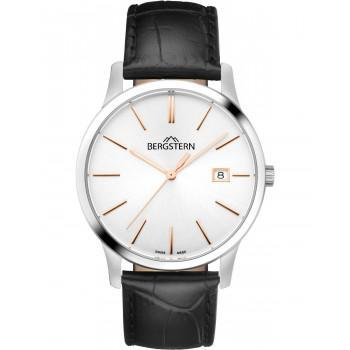 BERGSTERN Harmony - B008G057  Silver case with Black Leather Strap