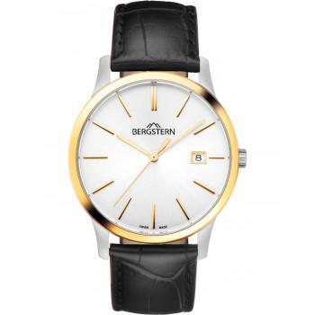 BERGSTERN Harmony - B008G060  Silver case with Black Leather Strap