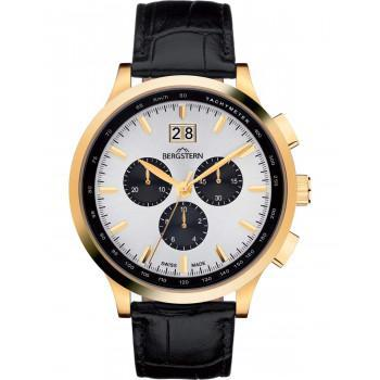 BERGSTERN Harmony Chronograph - B038G188  Gold case with Black Leather
